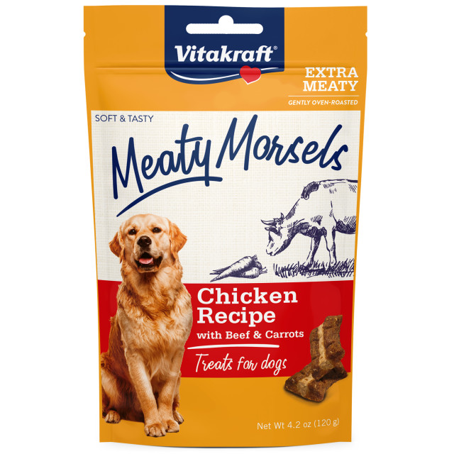 Product-Image showing Meaty Morsels Chicken Recipe with Beef & Carrots