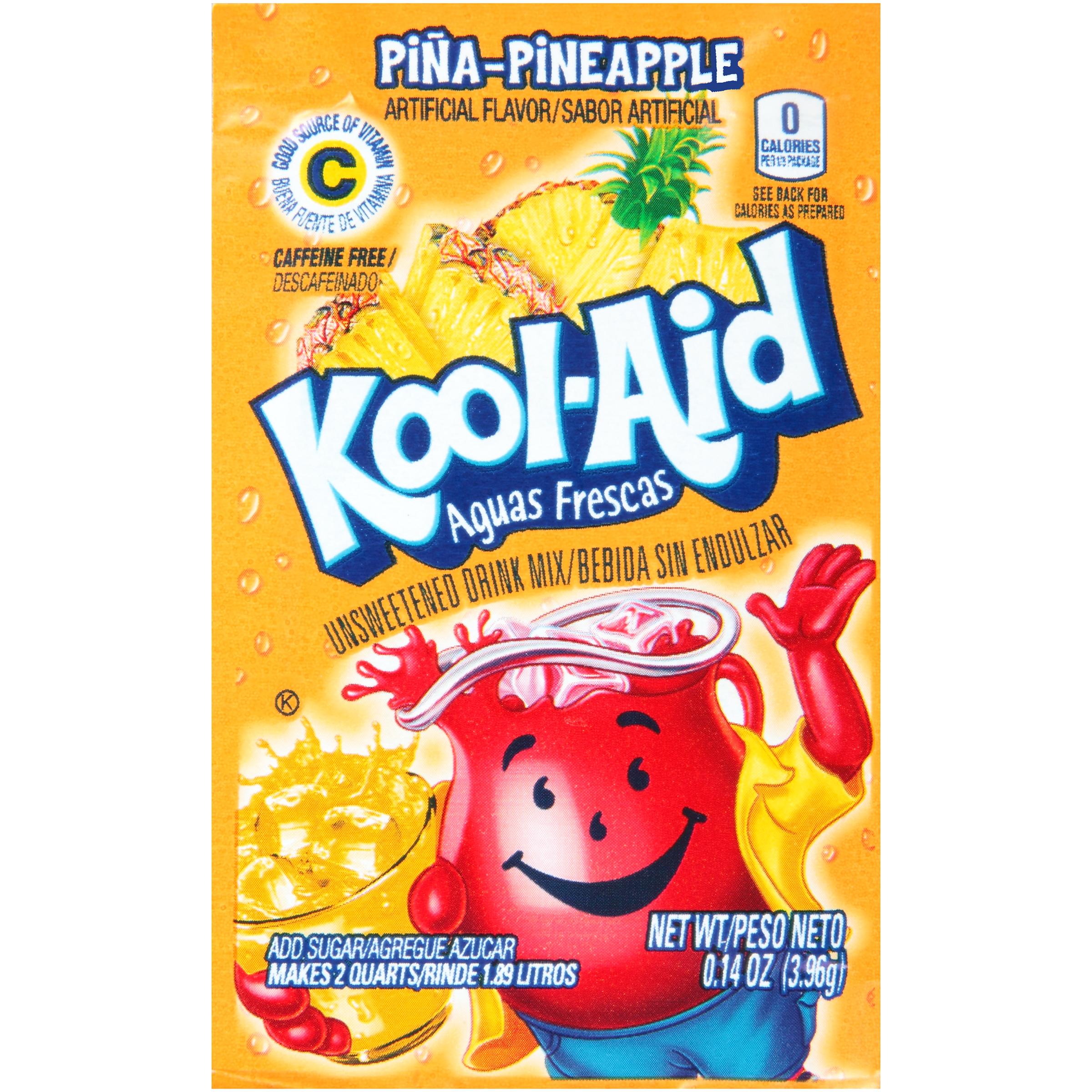 KOOL-AID Aguas Frescas Pineapple Drink Mix Unsweetened  0.14 oz Packet image