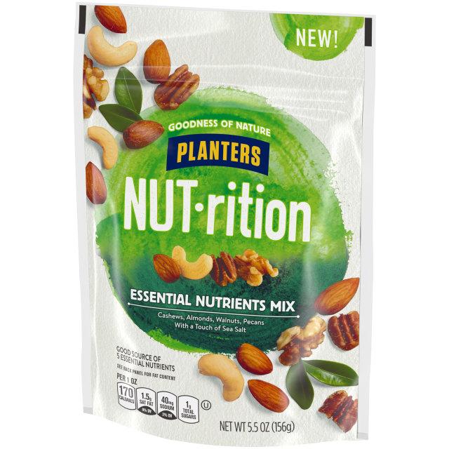 Planters Nutrition Snack Nut Mix Essential Nutrients 5.5 oz Bag