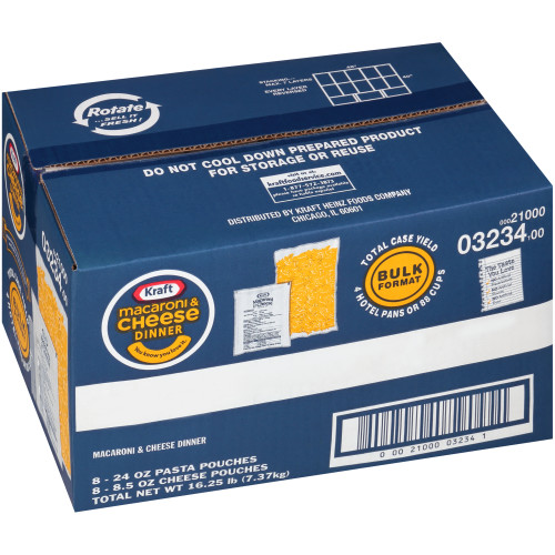 KRAFT Bulk Macaroni & Cheese Dry Mix, 32.5 oz. Box (Pack of 8)