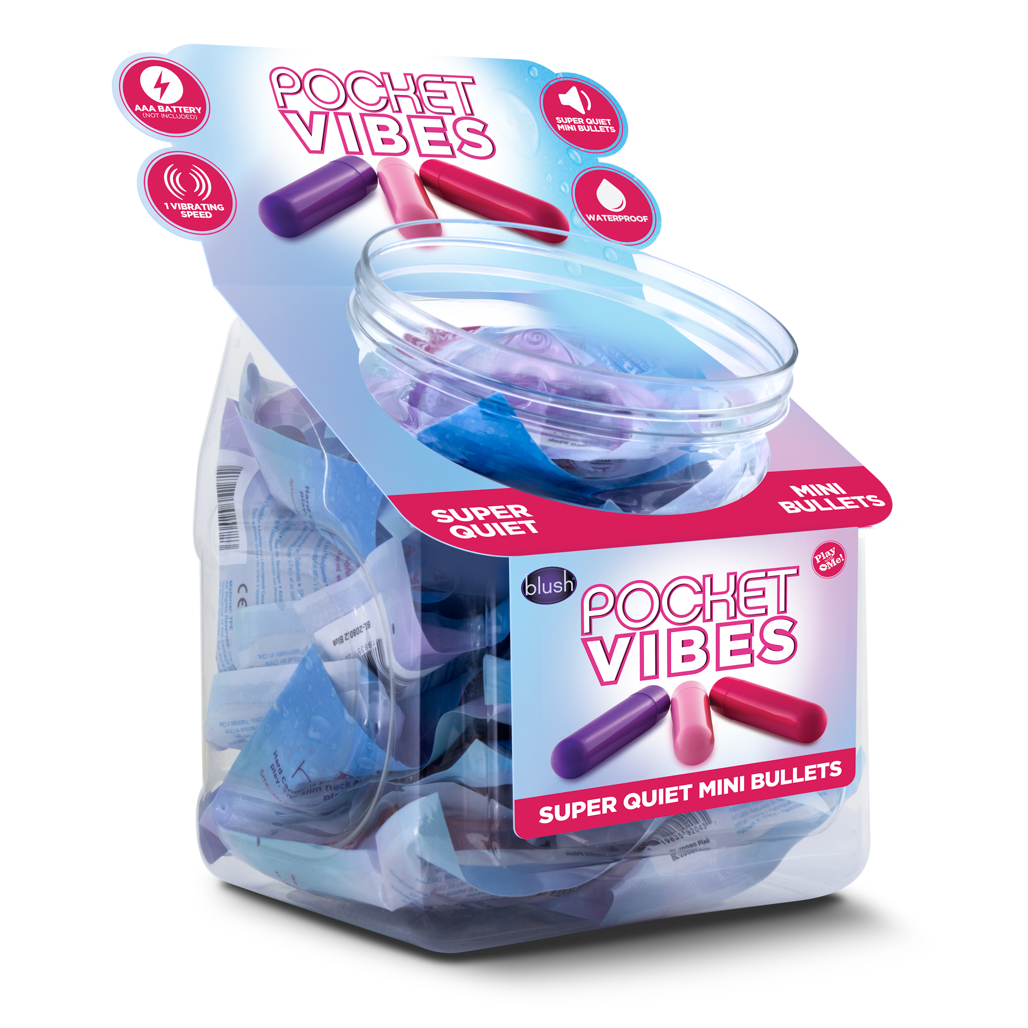 Play With Me - Pocket Vibes Fish Bowl - 36 Pieces