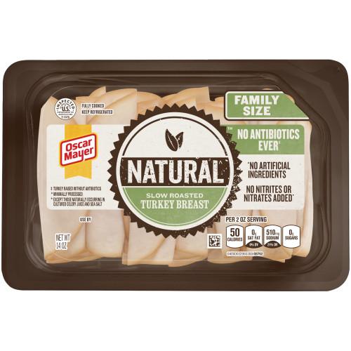 OSCAR MAYER Natural Slow Roasted Turkey Breast 14 oz