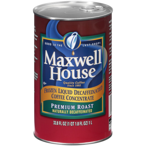 MAXWELL HOUSE Premium Roast Decaffeinated Coffee, 1 L. Can (Pack of 4)
