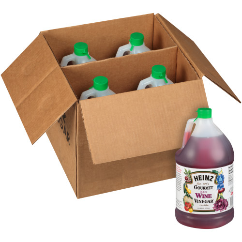 HEINZ Red Wine Vinegar, 1 gal. Jugs (Pack of 4)