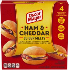 OSCAR MAYER Ham & Cheddar Slider Melts 10 oz Box