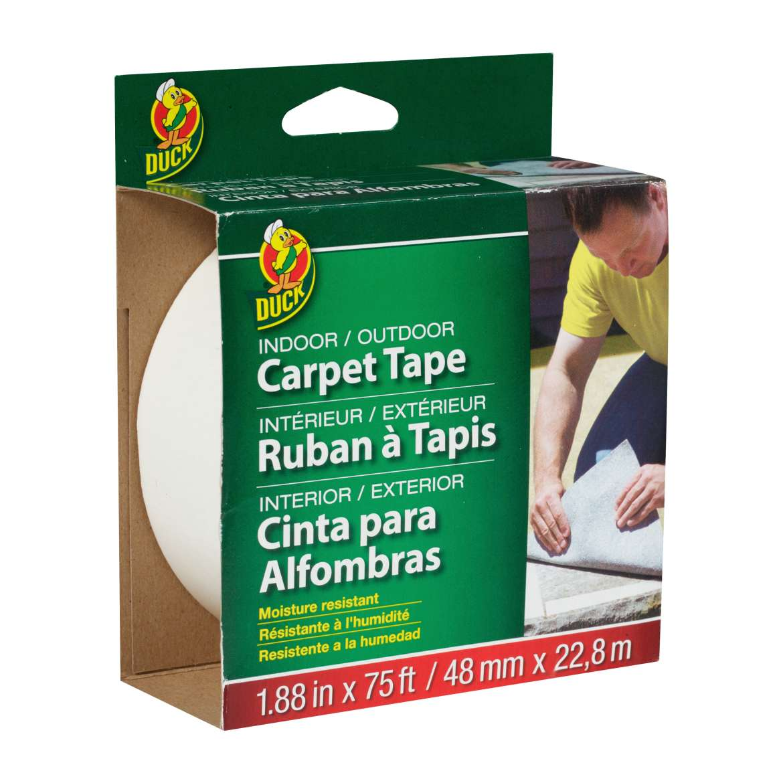Duck® Brand Indoor/Outdoor Carpet Tape - White, 1.88 in. x 75 ft. Image