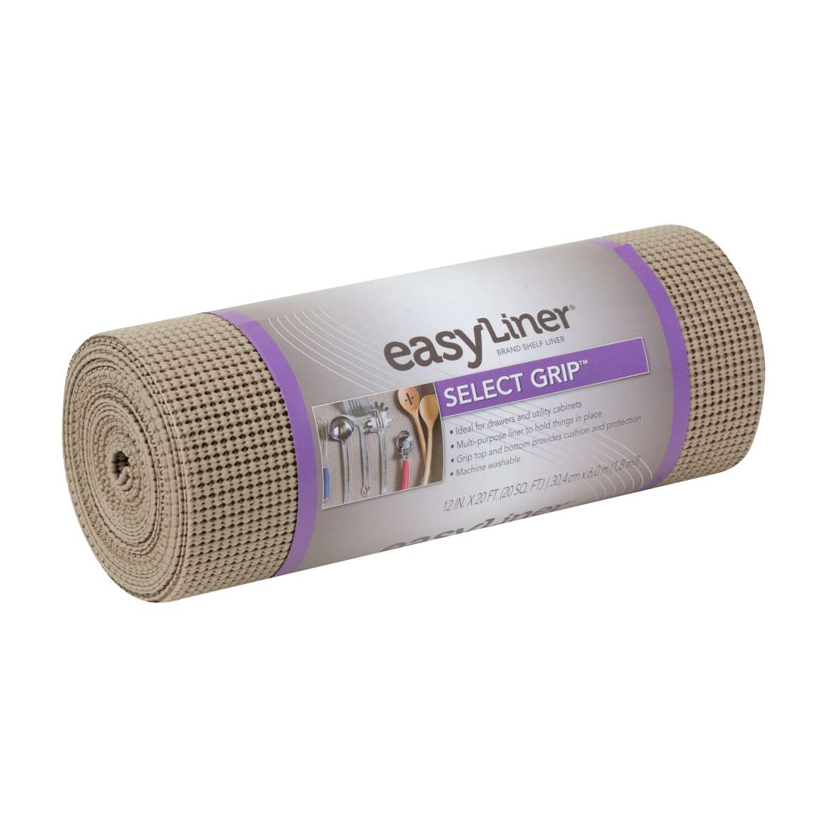 Select Grip™ Easy Liner® Brand Shelf Liner - Brownstone, 12 in. x 20 ft. Image