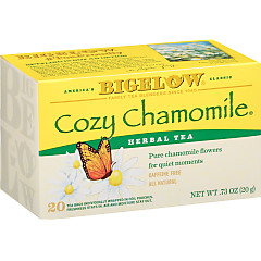Cozy Chamomile Herbal Tea - Case of 6 boxes- total of 120 teabags