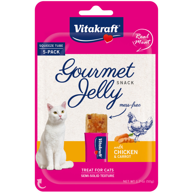 Product-Image showing Gourmet Jelly, Chicken and Carrot, 5 Pack