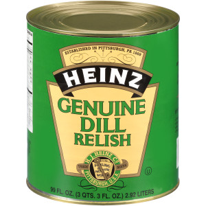 HEINZ Genuine Dill Relish #10 Can, 99 fl. Oz. (Pack of 6) image