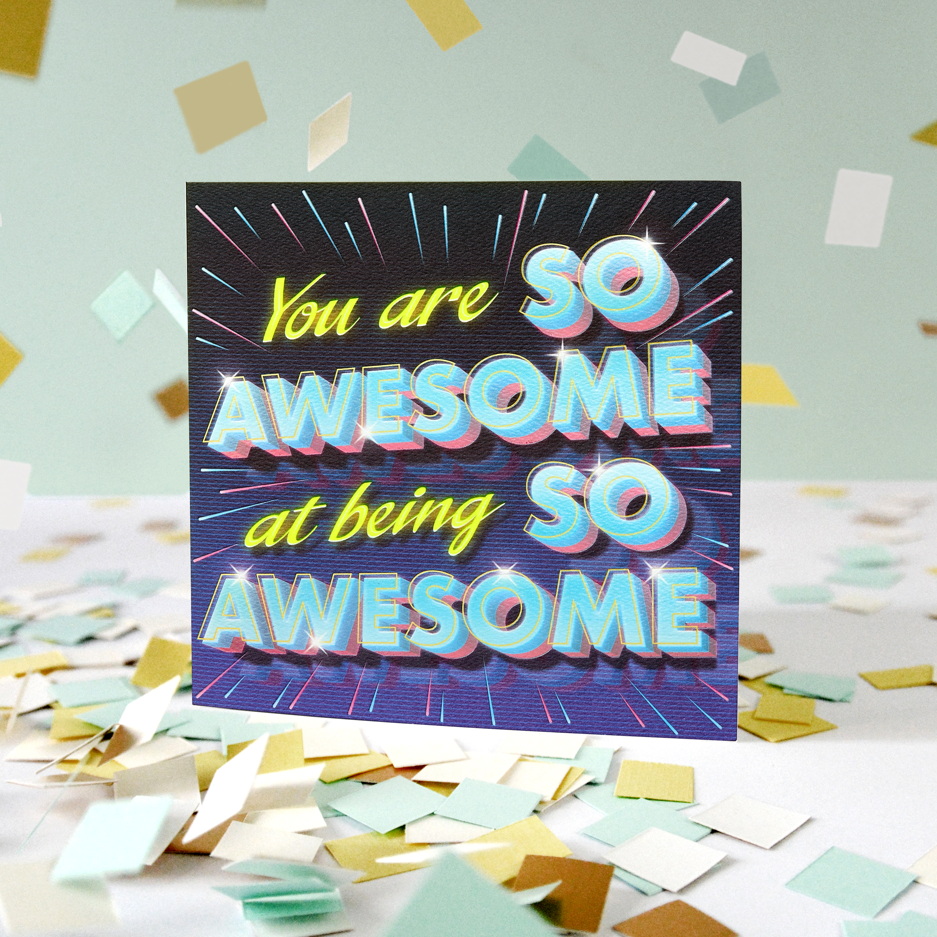 Awesome Greeting Card for Kids - Birthday, Thinking of You, Thank You, Friendship, Encouragement, Congratulations image