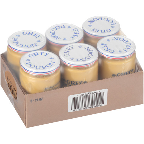 GREY POUPON Dijon Mustard, 24 oz. Jars (Pack of 6)