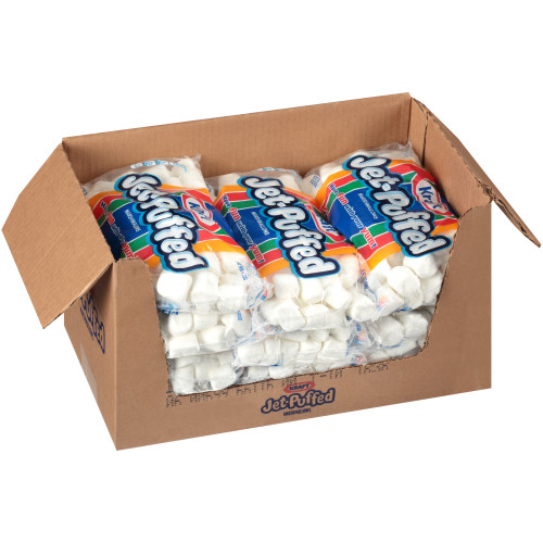 JET-PUFFED Regular Marshmallows, 16 oz. Bag (Pack of 12)