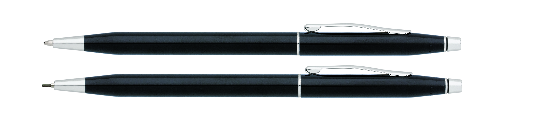 Classic Century Black Lacquer Pen and Pencil Set