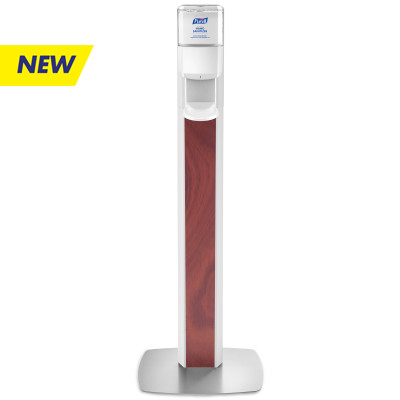 PURELL® MESSENGER™ ES8 Maple Panel Floor Stand with Dispenser