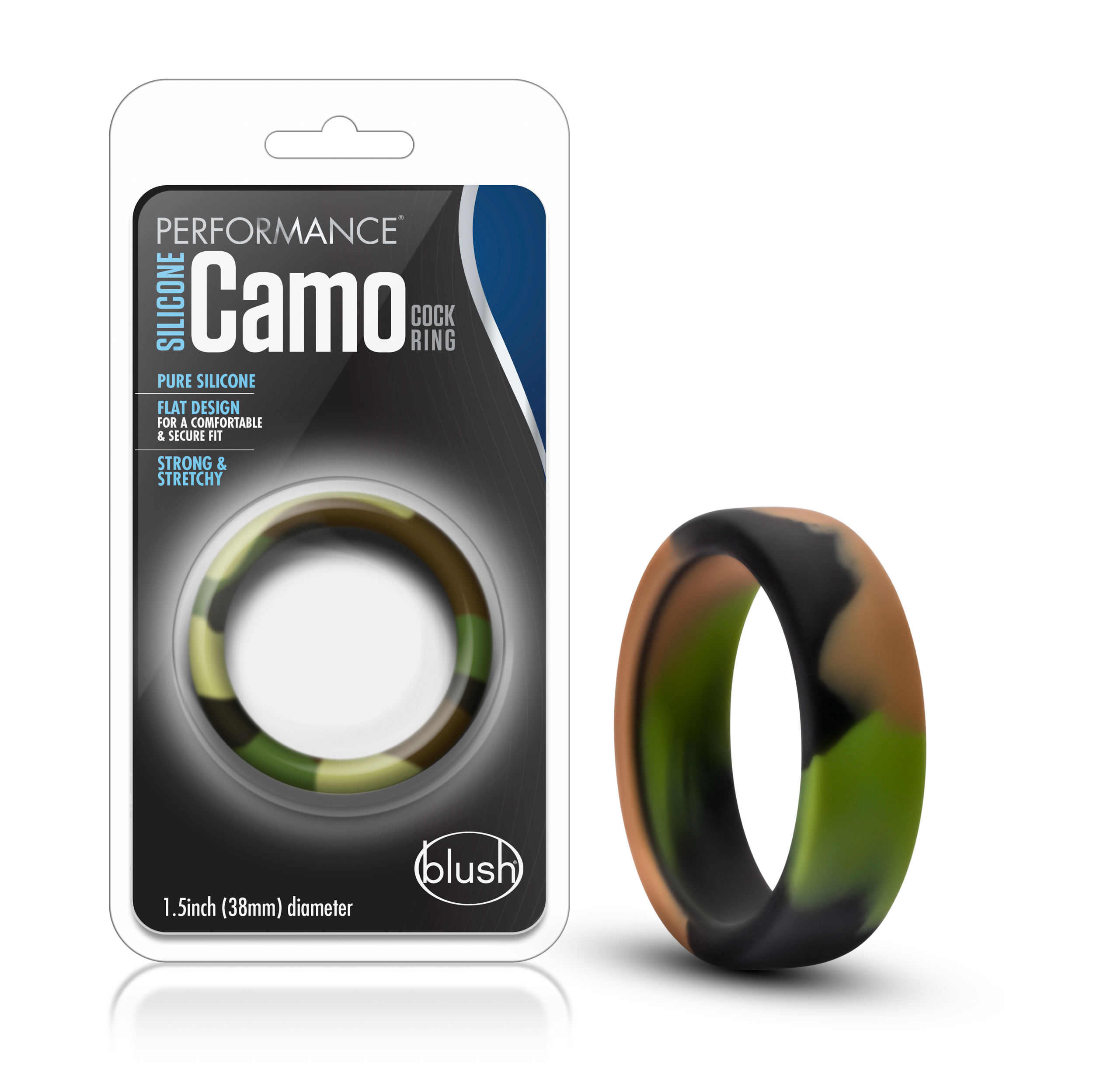 Performance - Silicone Camo Cock Ring - Green Camoflauge