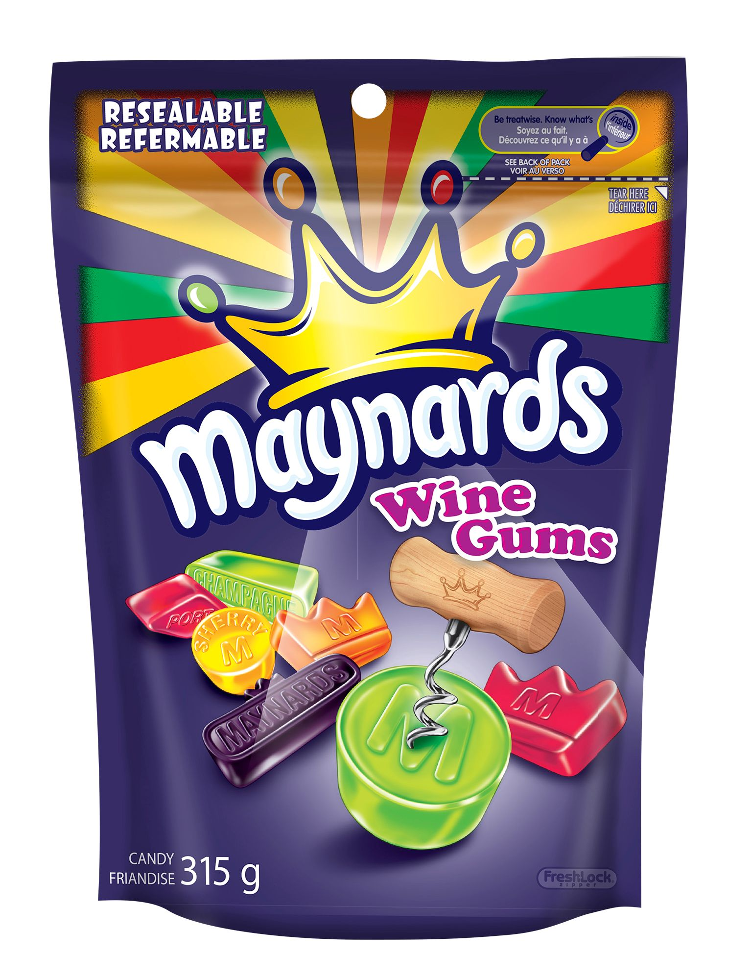 Maynards Wine Gums Assorti Friandise Molle 315 G
