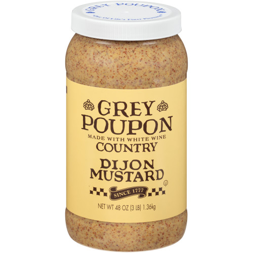 GREY POUPON Country Dijon Mustard,  48 oz. Jar (Pack of 6)