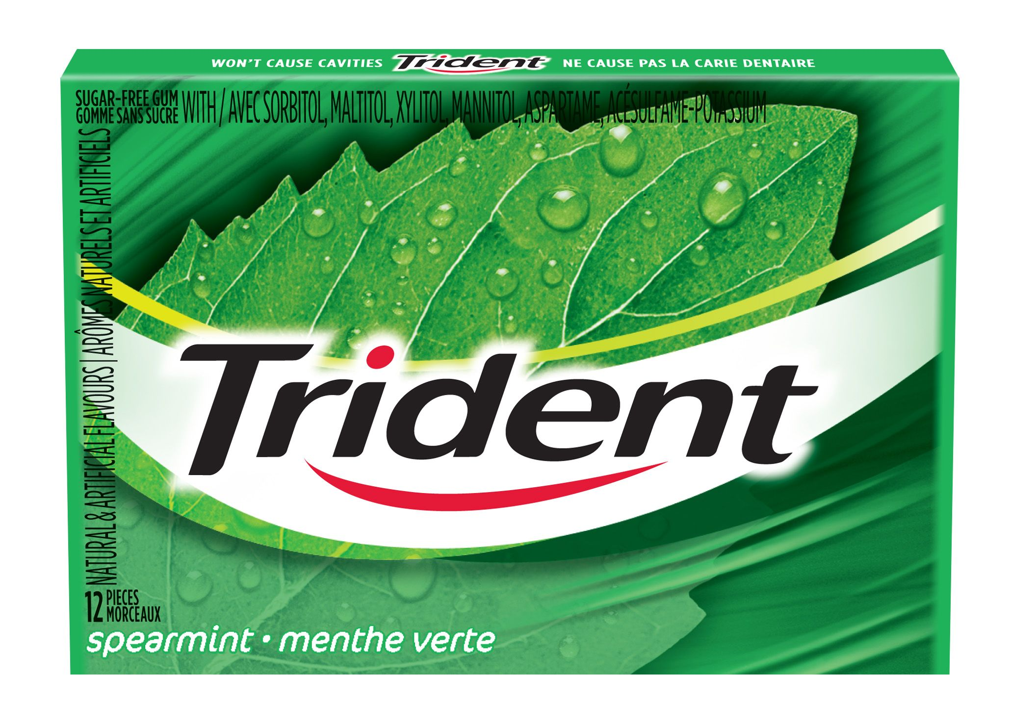 Trident Spearmint Gum 12 Count