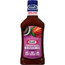 Kraft Tomato Basil Balsamic Vinaigrette Dressing 16 fl oz Bottle