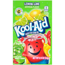 Kool-Aid Unsweetened Lemon Lime Powdered Soft Drink 0.13 oz Envelope