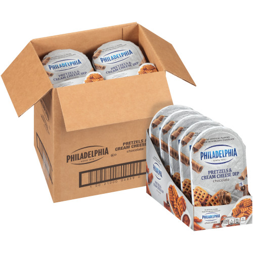 PHILADELPHIA Pretzels & Chocolate Cream Cheese Dip, 2.53 oz. Tray (Pack of 10)