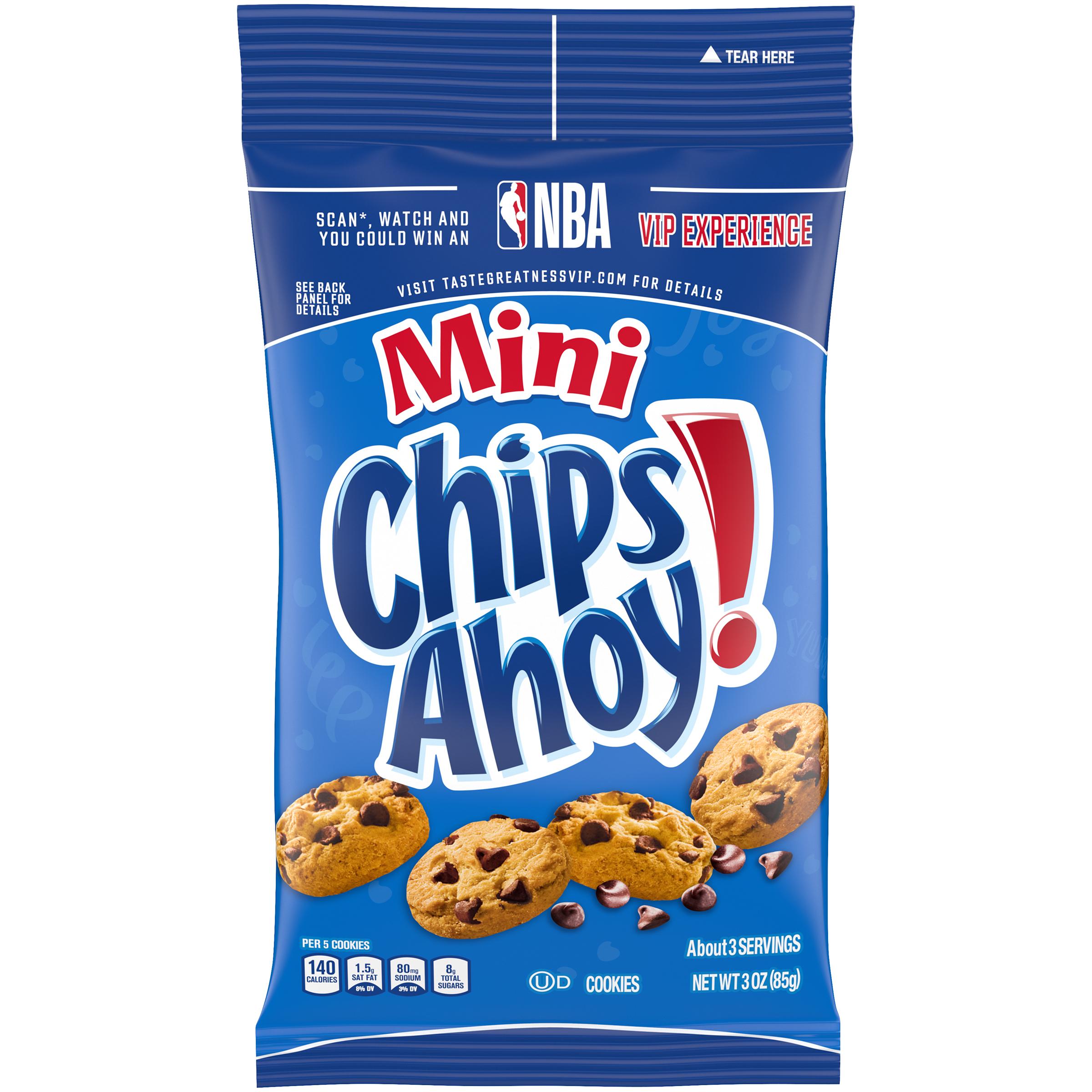 CHIPS AHOY! Mini Original Chocolate Chip Cookies, 1 Big Bag (3 oz.)