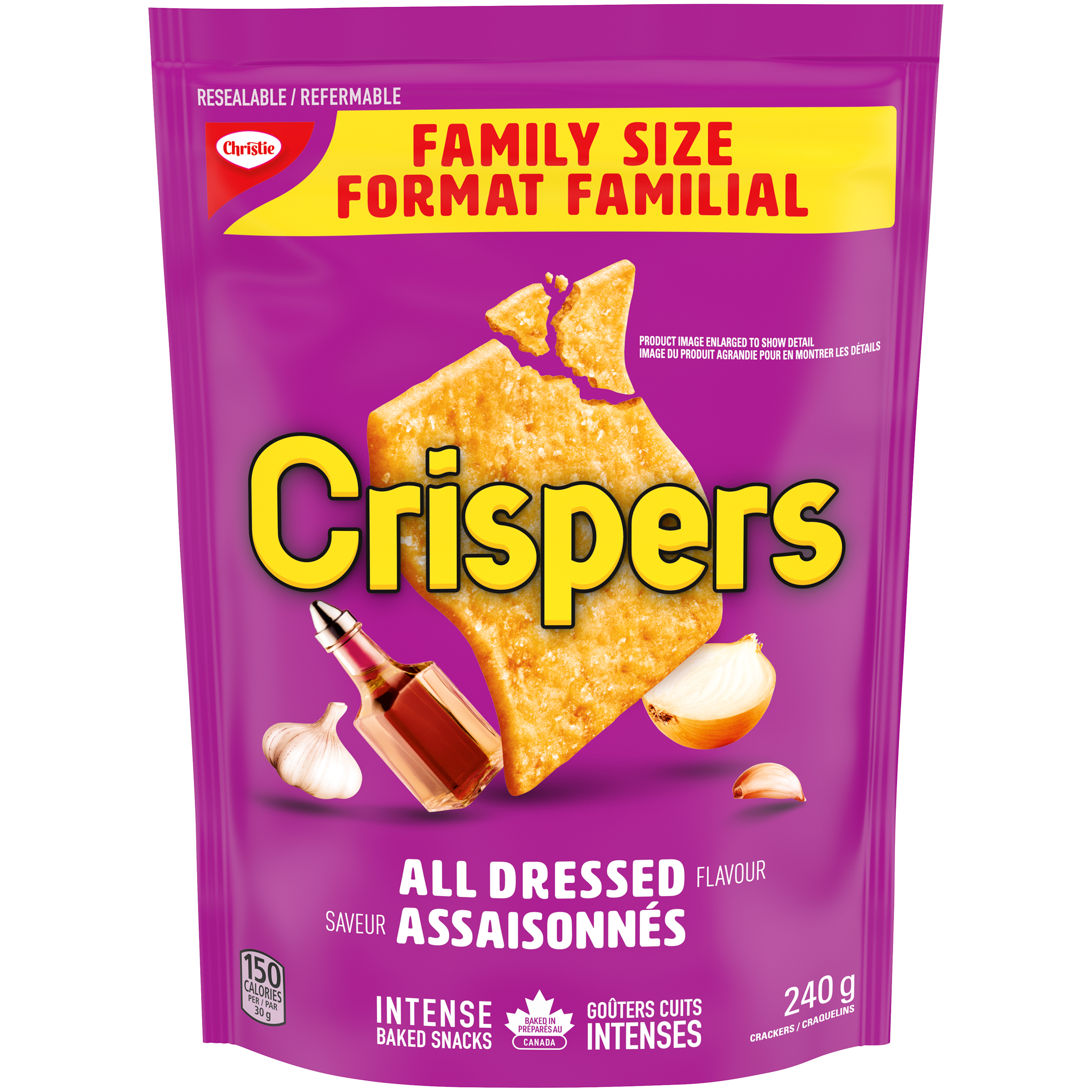 Crispers All Dressed Crackers 240 G