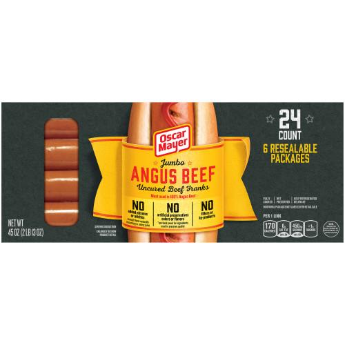OSCAR MAYER Premium Jumbo Beef Franks 6-4 Count Packs