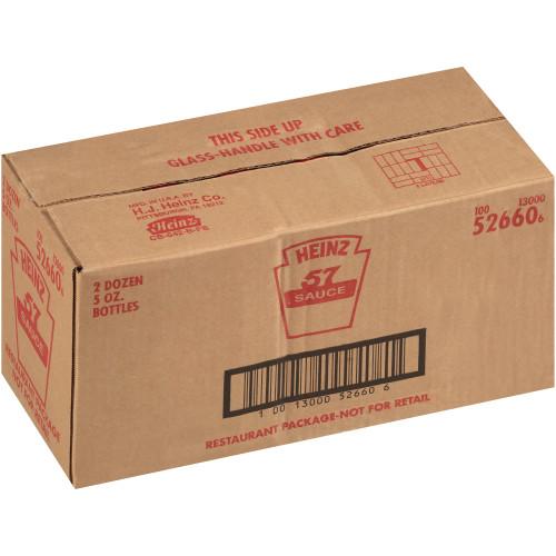 HEINZ 57 Sauce Bottle, 5 oz. Bottle (Pack of 24)
