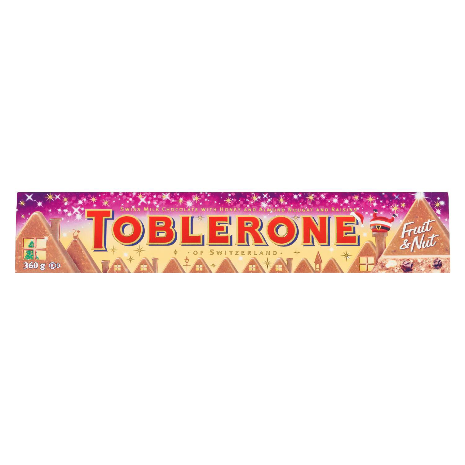 Toblerone Fruit And Nut Chocolate Bar 360 G