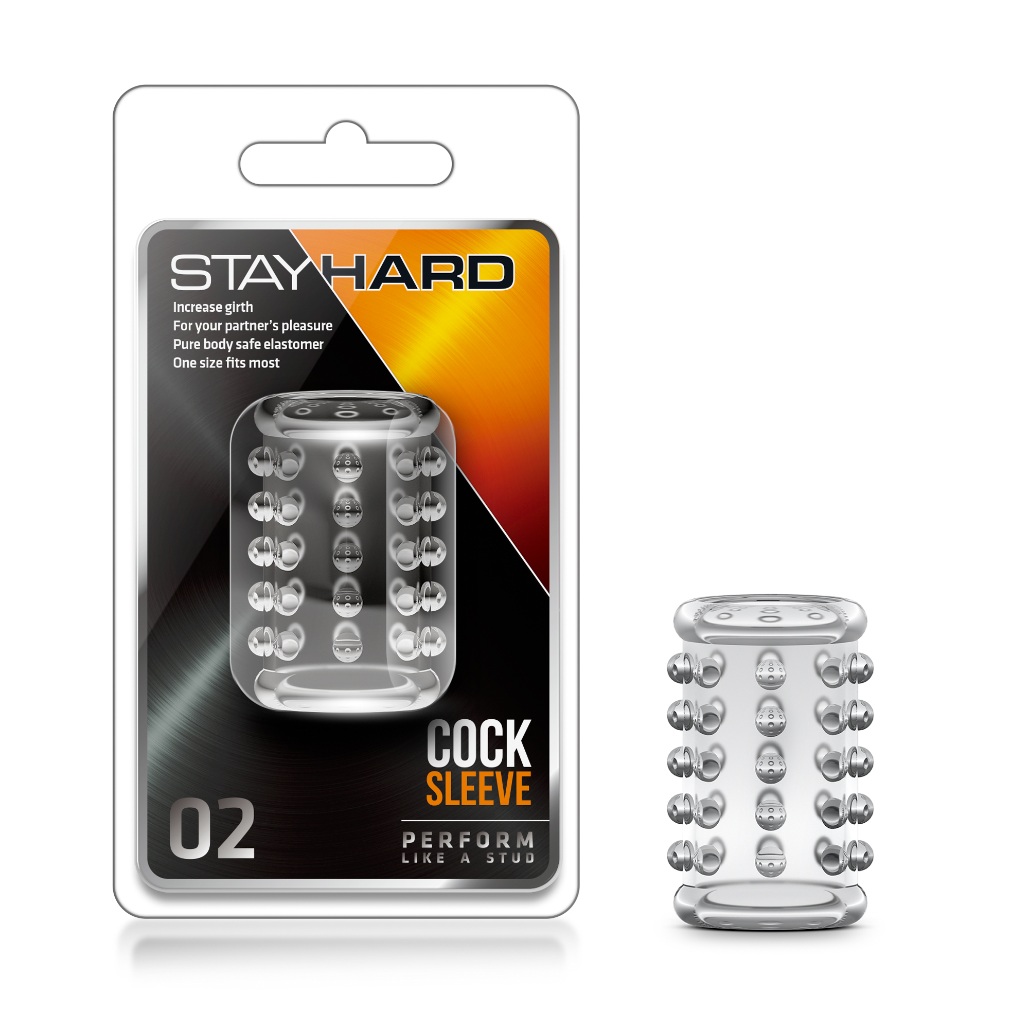 Stay Hard - Cock Sleeve 02 - Clear