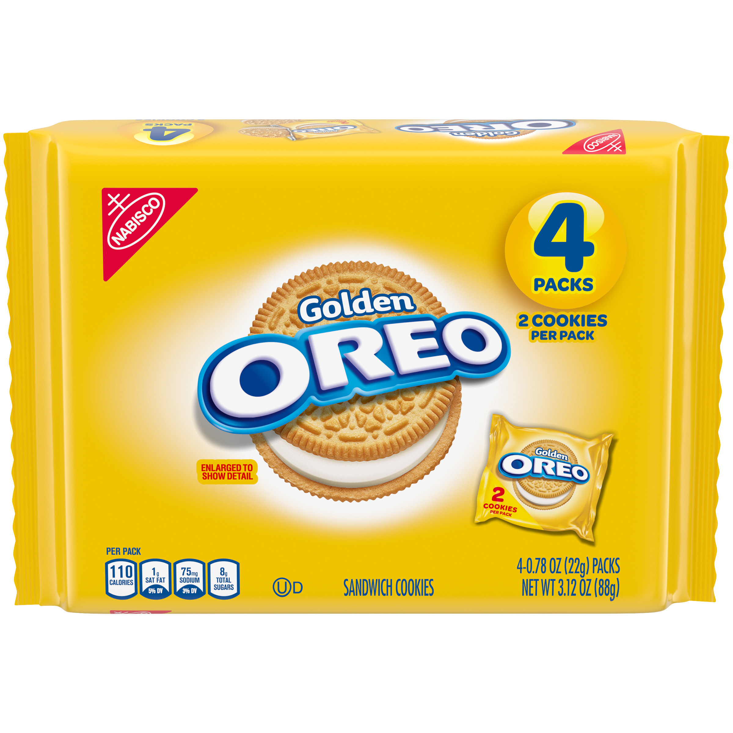 OREO Golden Vanilla Cookies 3.12 oz