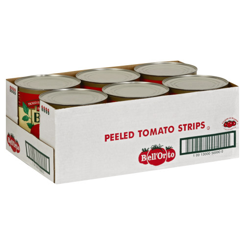BELL ORTO Peeled Tomato Strips, 102 oz. Can (Pack of 6)
