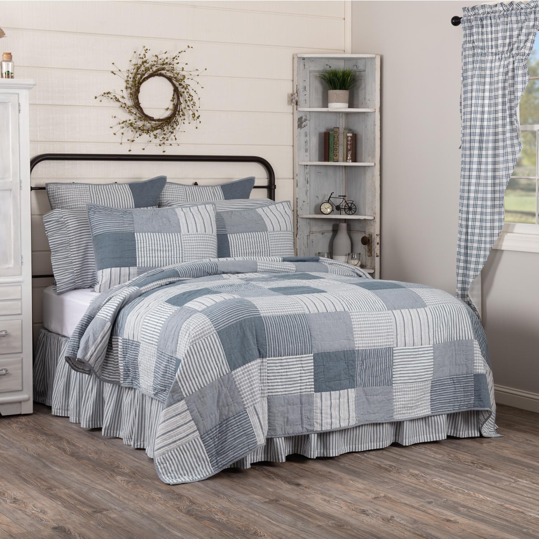 Sawyer Mill Blue King Quilt 105Wx95L