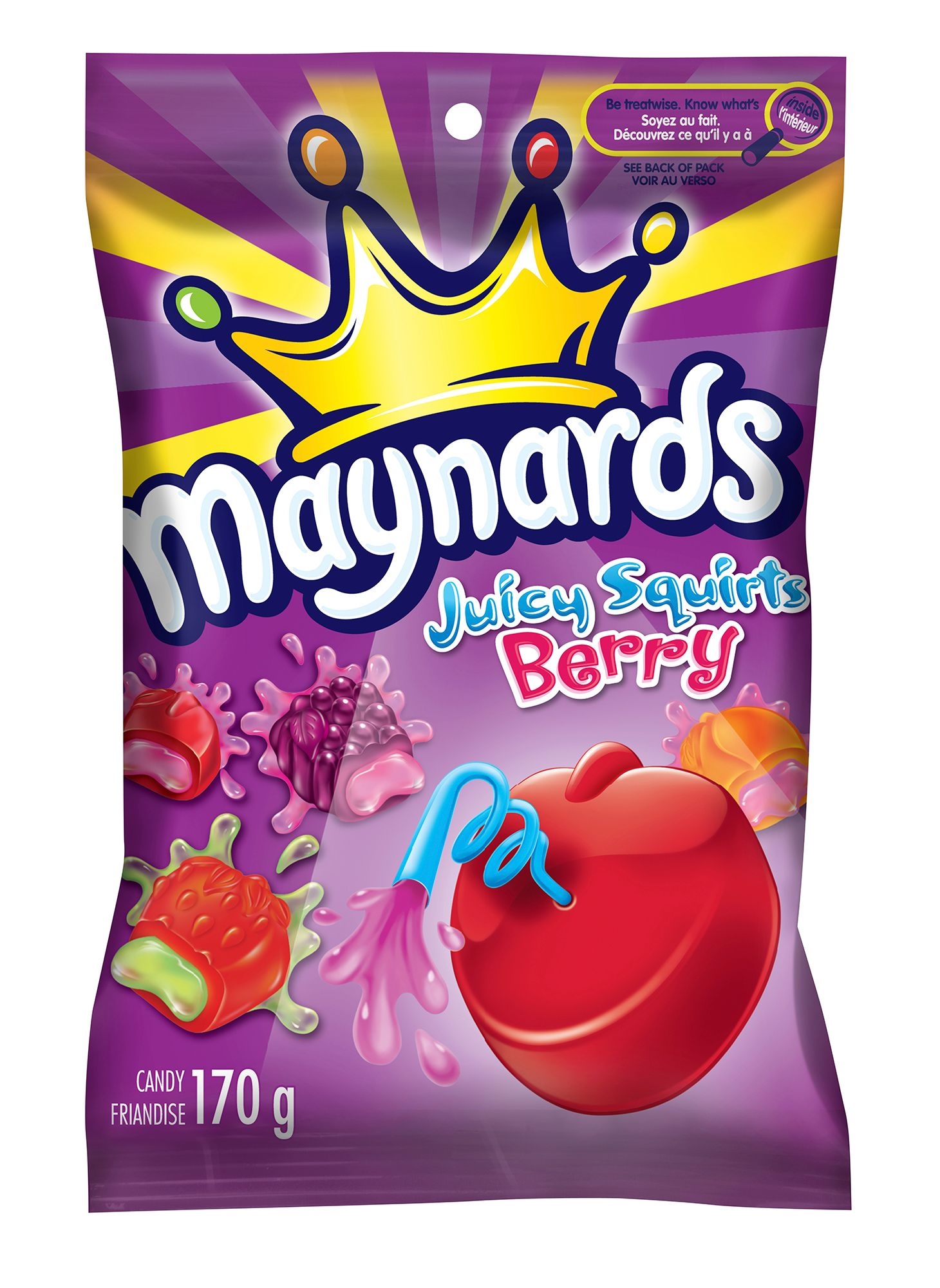 Maynards Juicy Squirts Berry Soft Candy 170 G