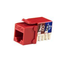 Red Cat5e 90-Deg Keystone Jack Wave Electronics