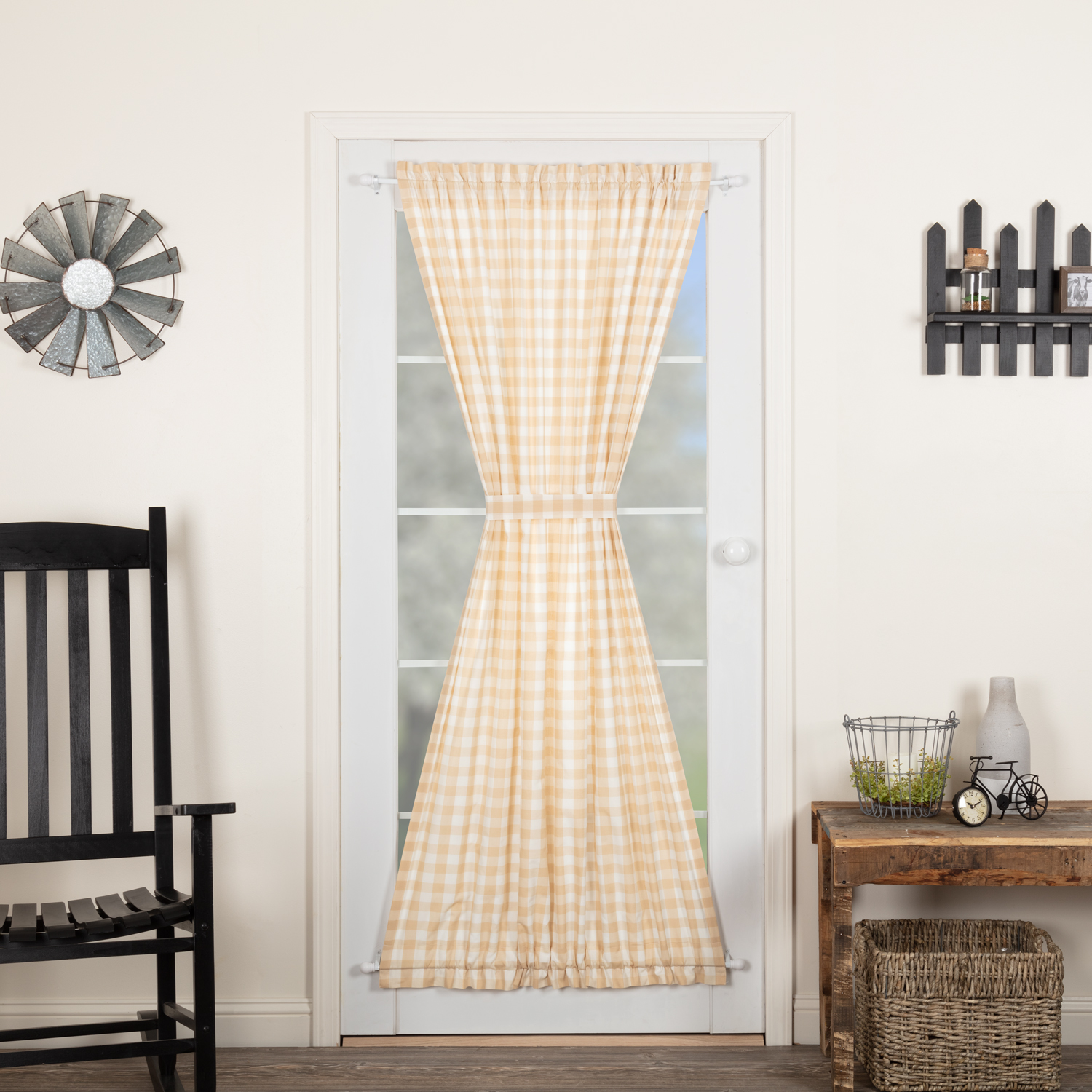 Annie Buffalo Tan Check Door Panel 72x42