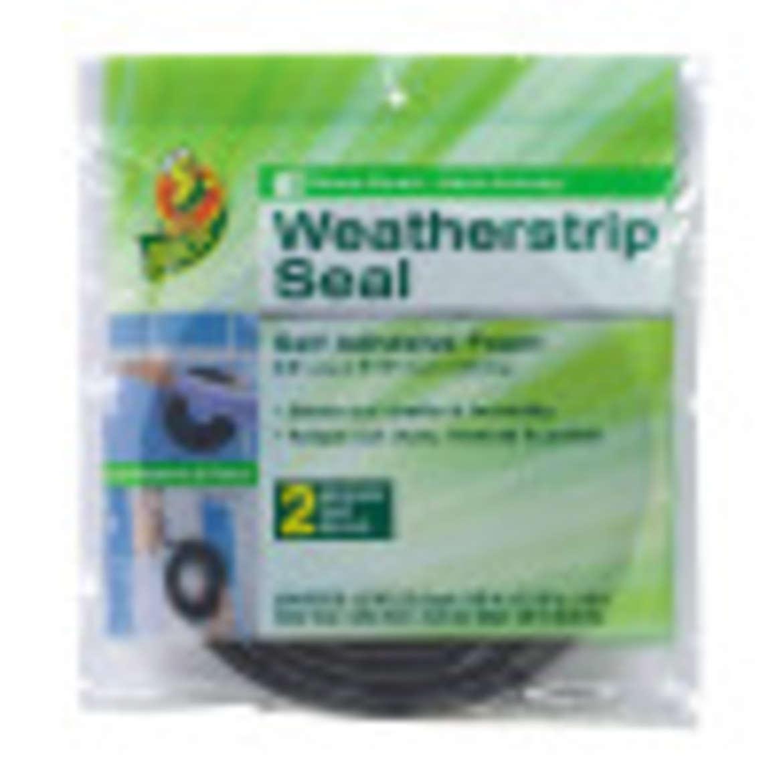 Duck® Brand Foam Weatherstrip Seal - Medium Gap, 2 pk, .38 in. x .31 in. x 10 ft. Image