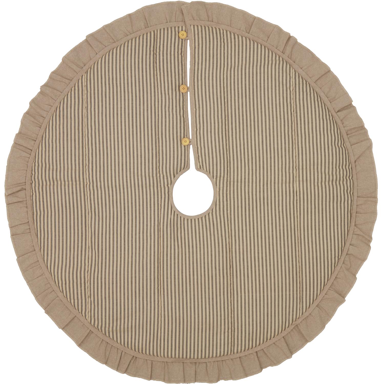 Sawyer Mill Charcoal Ticking Stripe Tree Skirt 48
