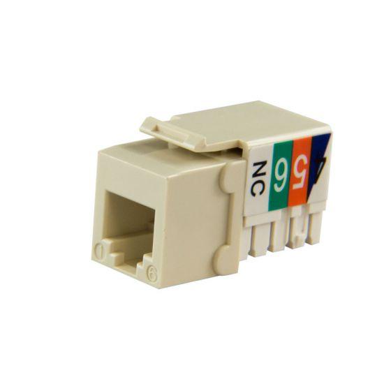 Almond Cat3 Keystone Voice Jack Wave Electronics