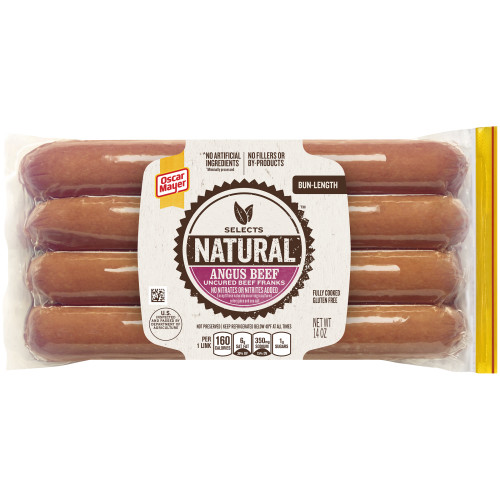Oscar Mayer Selects Angus Bun-Length Beef Franks Pack, 14 oz