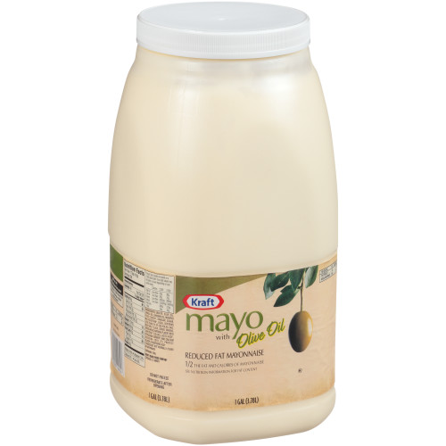 KRAFT Bulk Mayonnaise with Olive Oil, 1 gal. Jug (Pack of 4)