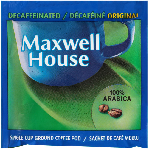 MAXWELL HOUSE In-Room Decaf Coffee Pods, 8 gr. (Pack of 8)