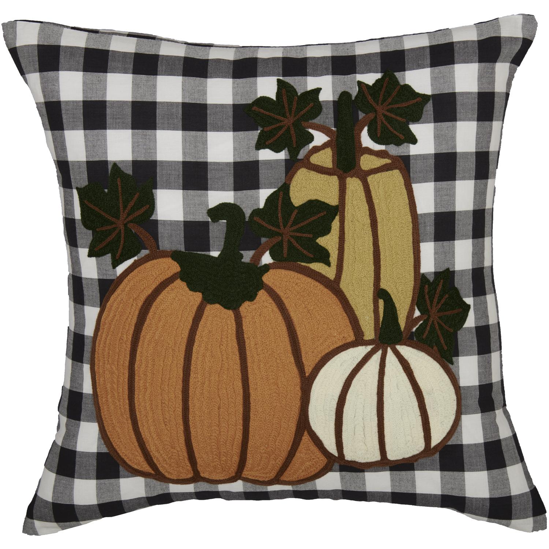 Annie Buffalo Black Check Pumpkin Pillow 18x18