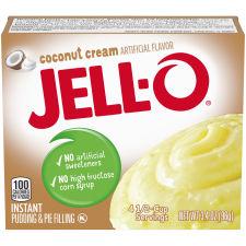Jell-O Instant Coconut Cream Pudding & Pie Filling 3.4 oz Box