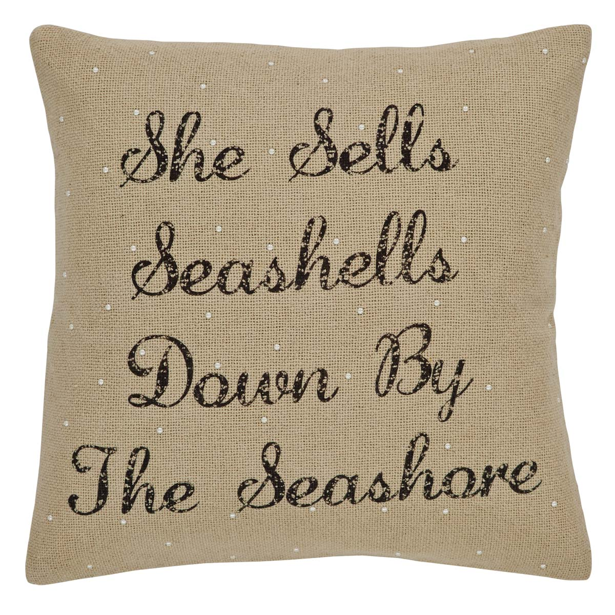 She Sells Seashells Pillow Cover 18x18
