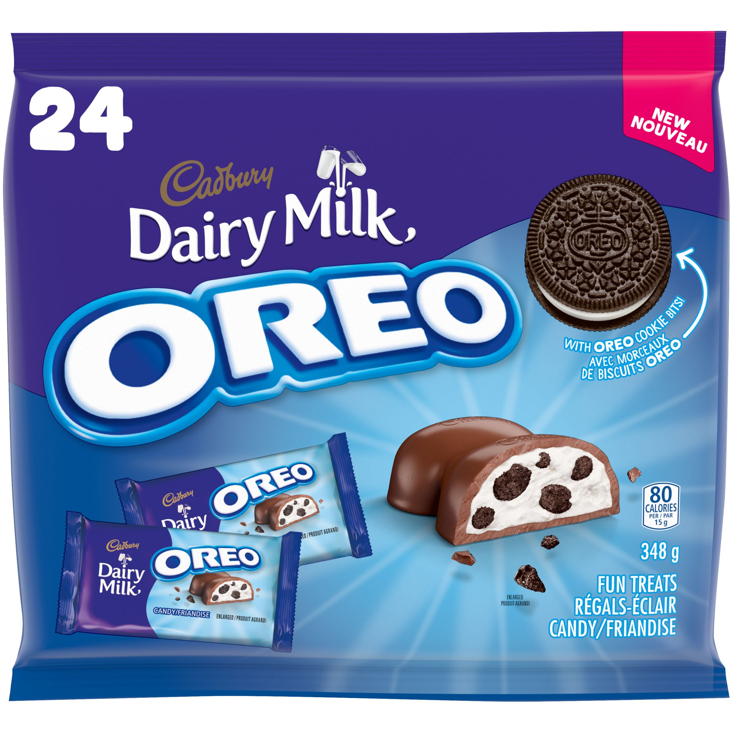 CADBURY DAIRY MILK Oreo FUN TREATS 348 GRM