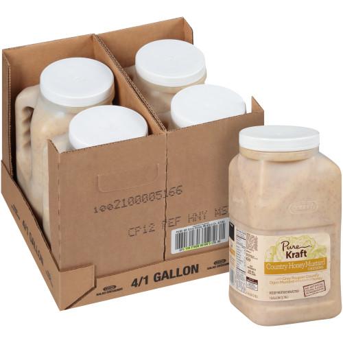 KRAFT Pure Country Honey Mustard Dressing, 1 gal. Jug (Pack of 4)