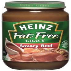 Heinz Home Style Fat Free Savory Beef Gravy 12 oz Jar image